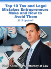 Top 10 Tax & Legal Mistakes by Entrepreneurs